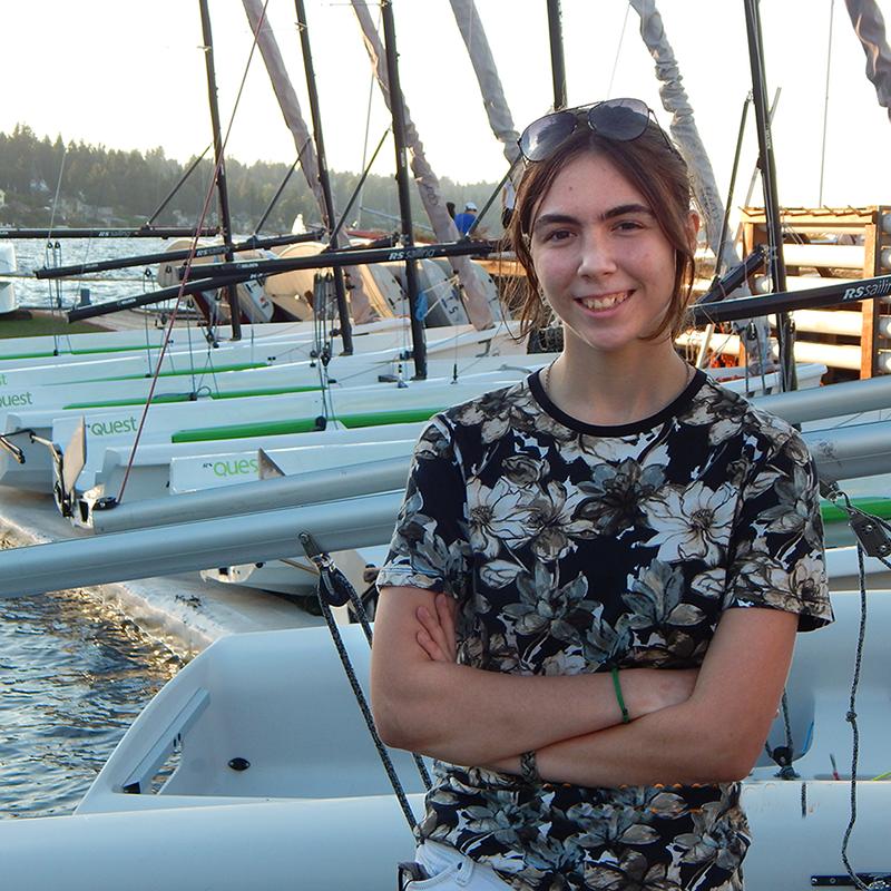 Sue Corl Youth Sailing Scholarship recipient Kira Hall
